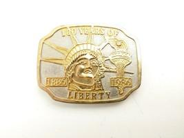 VTG Statue Of Liberty Centennial Gold Tone Belt Buckle  - $21.77