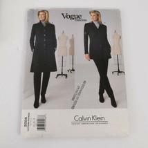 Vogue 2005 Coat Jacket Calvin Klein Size14 16 18 Sewing Pattern Uncut - $35.00