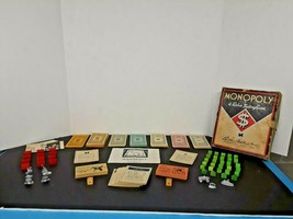 Vintage 1936 Parker Brothers Monopoly Game No Board - $19.80