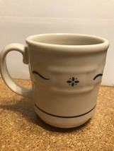Longaberger Pottery Woven Traditions Heritage Blue Coffee Tea Mug Excellent! - $8.55