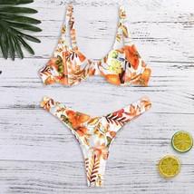 Bikinis 2019 Mujer Swimwear Women Print Push Up Padded Bra Beach Bikini ... - $12.70