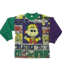 Vintage 1980s Peanuts Charlie Brown Snoopy Kids Youth T-Shirt Color Bloc... - $20.53