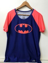 UNDER ARMOUR BATMAN Polyester Blend Fitted HeatGear T Shirt Men's L Blue... - $14.95