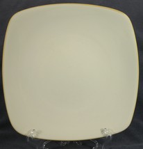 Noritake Colorwave Mustard 8065Y Dinner Plates Square Coupe White - $17.95