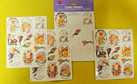 Vintage American Greetings Easter Spring Bunnies Chicks Stickers 3 Sheets - $19.99