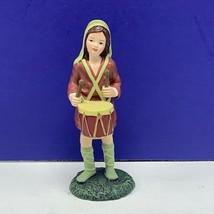 Thomas Kinkade nativity figurine Christmas hawthorne village Honor him drummer - $34.60