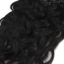 "Easyouth 8"" Natural Black Curly Clip in Extensions Body Weave 7Pcs/Set 100g Per  image 5"