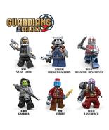 6pcs Guardians of the Galaxy Star Lord Rocket Yondu Gamora Drax Building... - $11.99