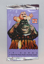 Pro Set Dinosaurs 10 cards Per Pack From 1991 - 1992 Sealed Pack - $7.08