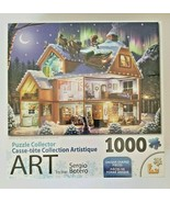Puzzle Collector Art 1000 Santa On The Roof Christmas Jigsaw Puzzle NIP - $16.78