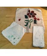 3 Vintage Ladies Handkerchiefs - $5.89