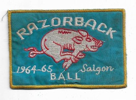 US Army 64-65 Salgon Ball Razorback Assault Helicopter Co Vietnam Vintage Patch - $12.07