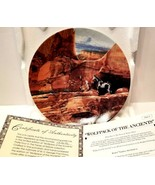"""Bradford Exchange Plate: The Faces Of Nature """"Wolfpack of the Ancients"""" - $20.54"""