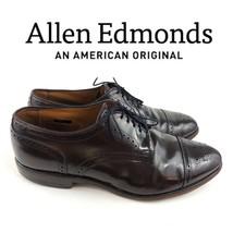 $395 Allen Edmonds Sandord Brown Cap Toe Brogue Oxfords Mens Size 10.5   12108 - $57.00