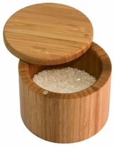 Sea Salt Keeper Storage Kosher Spice Rack Bamboo Chest w/ Lid Tight Seal... - $29.99
