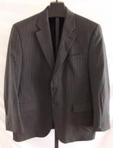 Lauren Ralph Lauren Charcoal Gray Pin Striped Wool Suit Jacket Mens Size 46 - $38.61