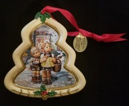 "Hummel Christmas Ornament Danbury Mint Tree Shaped ""To Market"" - $8.15"