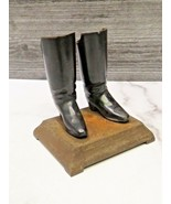 Victorian Small Black Cast Iron Boots on a Base - $27.72