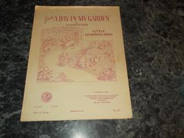 From a Day in my Garden by Elizabeth Gest Little Humming Bird sheet music - $2.99