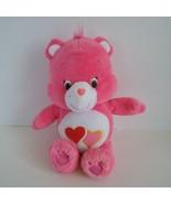 "Care Bears Love a Lot Bear Small Soft Pink Plush Stuffed Animal Doll Toy 9"" - $6.87"
