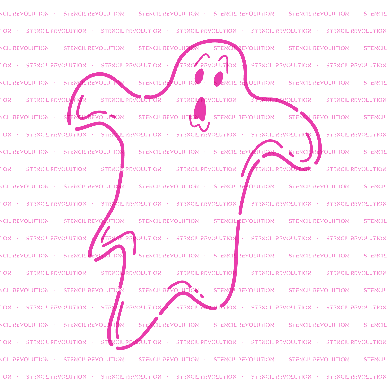 Ghost Stencil - Reusable Stencils of Ghost in Multiple Sizes