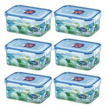 (Pack of 6) Lock & Lock Rectangular Plastic Food Container 20.29oz / 2.54cup - $31.67
