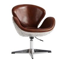 MarquessLife 100% Genunie Leather Handmade Swivel Swan Chair Industrial ... - $873.97