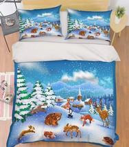3D Animals 398 Bed Pillowcases Quilt Duvet Cover Set Single Queen King Size AU - $90.04+