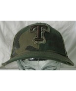 New Era Hat Texas Rangers in Camo Fitted Size 7 or 55.8 cm  - $14.85