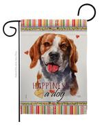 Beagle Happiness - Impressions Decorative Garden Flag G160150-BO - $19.97