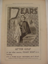 1898 PEARS Soap After GOLF Use Soap of Equal Fame Ad LADY GOLFER - $9.99