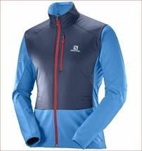 new Salomon men motionfit Air jacket Primaloft advancedSkin blue sz L $180 - $94.04