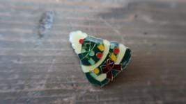 "Vintage 1"" Enamel Christmas Tree Lapel Pin - $9.89"