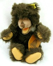 Vintage Steiff Small Teddy Bear Brown Open Mouth with Ear Tag Rare 4763/... - $107.91