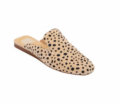 Dolce Vita Women's 8 Bran Sand Spotted Slip On Flats Mule Square Toe Lea... - $58.19