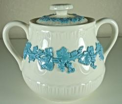 Wedgwood Lavender on Cream Sugar Bowl and Lid - $38.80