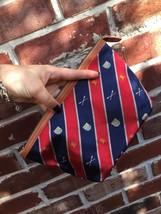 RL Ralph Lauren Rugby Blue Red SCHOOL Boy Tan Leather Clutch Purse Bag *... - $59.99
