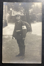 Mint Germany Real Picture Postcard RPPC Red Cross Volunteer Soldiers - $84.15