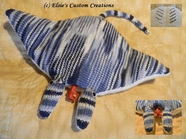 Manny The Manta Ray - PDF Knitting Pattern - $6.99