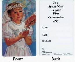 Roman Club Pack Of 50 Girl's First Communion Keepsake Cards #95499 - $14.84
