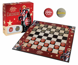 Fallout Nuka-Cola & Quantum Cola Checkers Board Game USAopoly NEW CK110-473 - $25.74