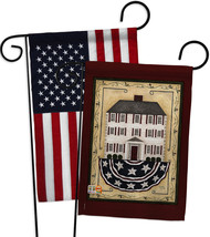 Patriotic White House - Impressions Decorative USA - Applique Garden Fla... - $30.97