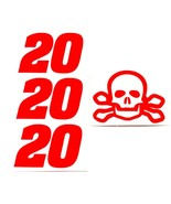 SKULL & CROSS BONES HI GLOW ORANGE # 20 DECAL 1/24TH SET MAKE YOUR OWN T... - $2.99
