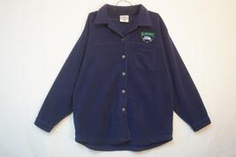 Seattle Seahawks Heavy Button-Front Fleece Jacet, Navy Blue, Women's Lar... - $17.32