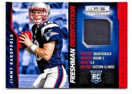 Jimmy Garoppolo Rc 2014 Panini Rookies&Stars Freshman Orientation PATCH-PATRIOTS - $44.54