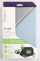 """Targus Fit-n-Grip THZ66202GL Carrying Case Folio for 7-8"""" Tablet Blue Silver NEW image 1"""
