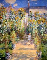 The Artist's Garden at Vetheuil, 1880, Claude Monet, France, Sunflowers,... - $15.99