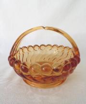 Westmoreland Glass, Swirl & Ball, Golden Sunset Split Handle Basket in - $24.00