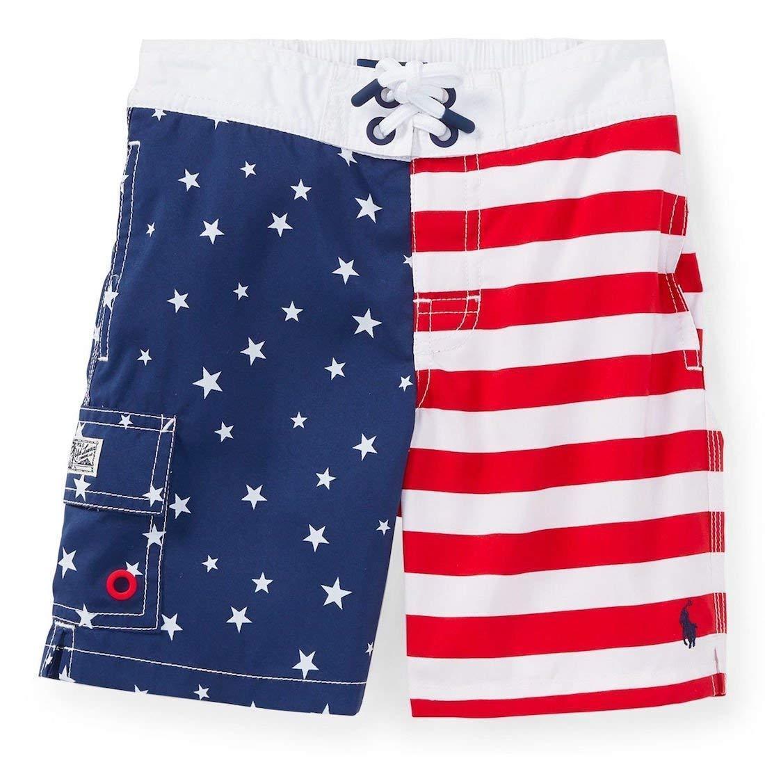 RALPH LAUREN Polo Mens American Flag Swim Trunk L XXL