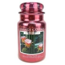 Village Candle Large Glass Jar Scented Candle Cactus Flower (26oz) Limit... - $49.49